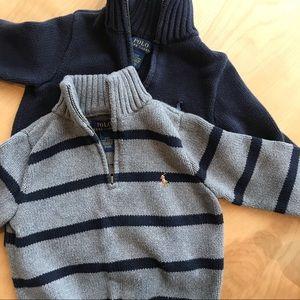 2 Polo by Ralph Lauren 3T quarter zip sweaters